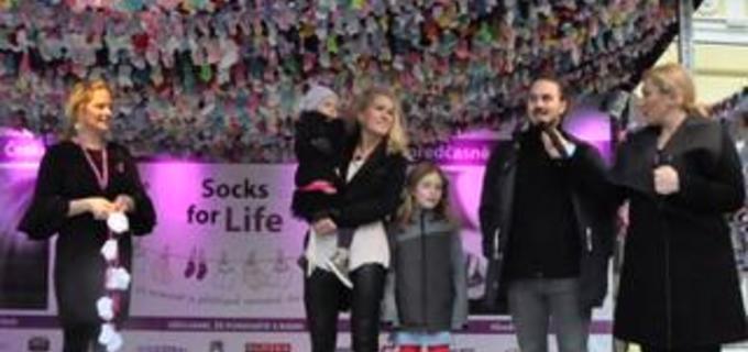 Pražský Žofín byl svědkem vyhlášení ponožkového rekordu